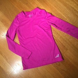 BCG girls pink longsleeve athletic top XS 6/6X
